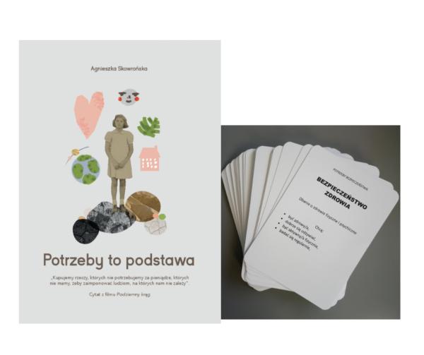 """Zestaw: Książka """"Potrzeby to podstawa"""" + """"Karty potrzeb"""" (wersje papierowe)"""